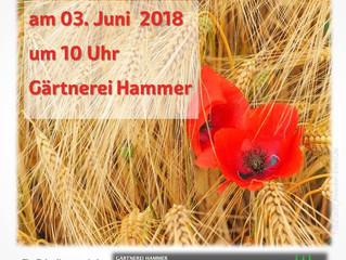 Herzliche Einladung zum Erntebittgottesdienst am 3.6.2018 bei der Gärtnerei Hammer