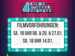 4 Filme - 4 Gottesdienste, letzter Filmgottesdienst am kommenden Wochenende!