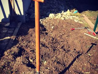 Die Gartenarbeiten schreiten voran!