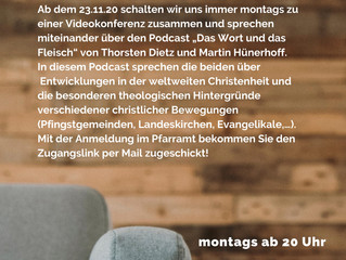 Gelungener Start mit Theologie auf dem Sofa!