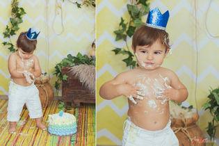 Domenico   Foto Bambini Smash CakeNapoli
