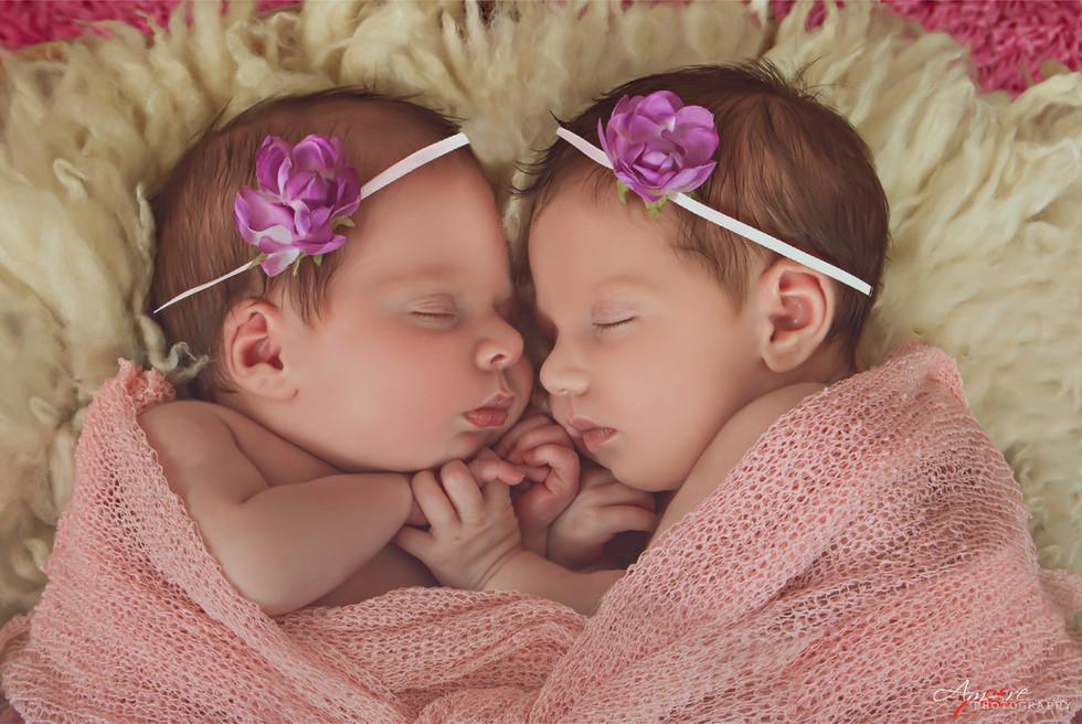 Melissa e Martina   Foto Newborn Neonati