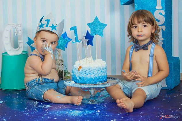 Christan   Foto Bambini Smash CakeNapoli