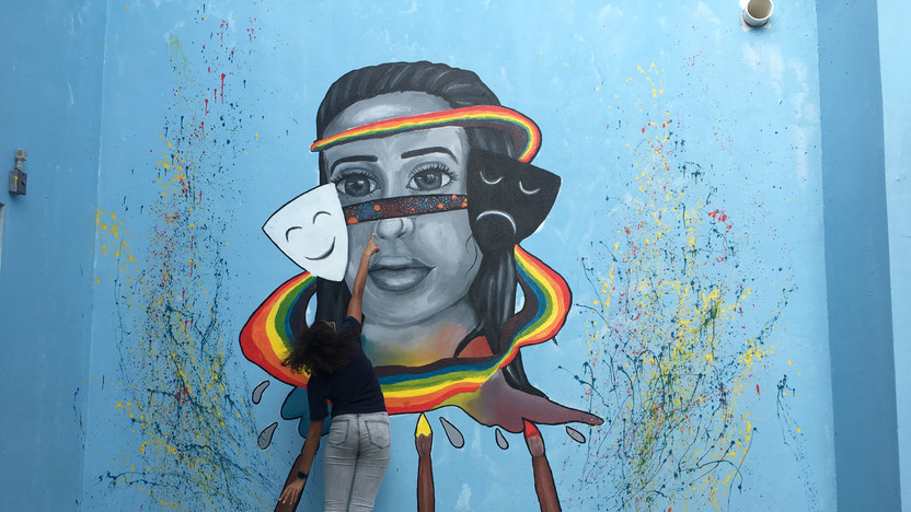 STA finished mural feat. artist Francesca Broughton