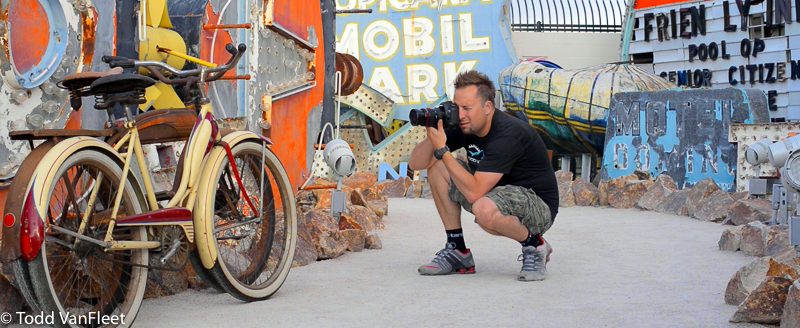 shooting in the neon museum