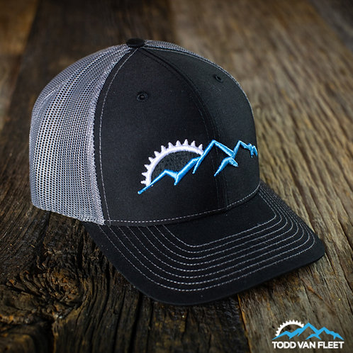 TVF Adventure Trucker Hat: BLACK/GREY