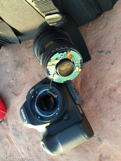 OUCH! $1,200 lens. Ruined.