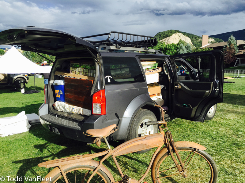 No room to spare, yay for bike racks