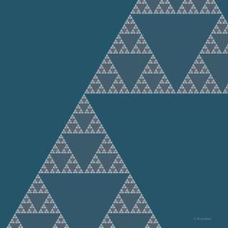 Triangles Deep Sky Blue