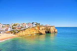 The village Carvoeiro in the Algarve Por