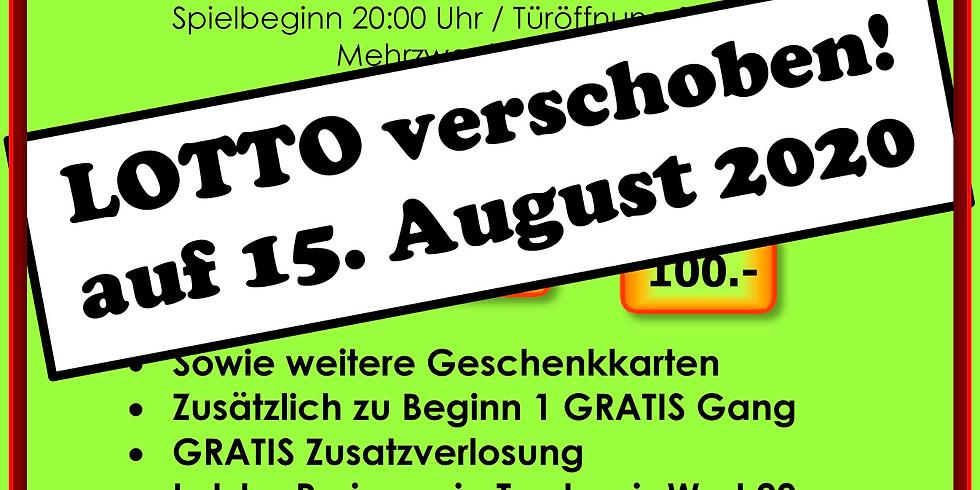 LOTTO 15. August 2020 MZH Walliswil-Wangen ABGESAGT