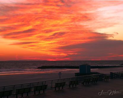 Orange Oceanside Sunset