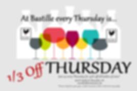 1/3 off Thursday