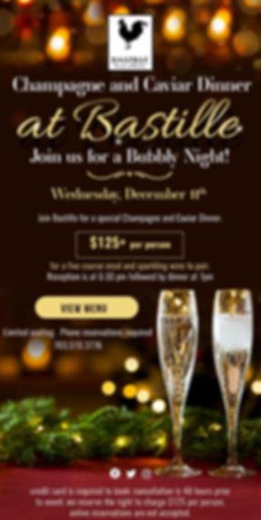 Champagne Caviar Dinner