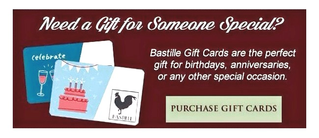 Gift Certificates for Bastille
