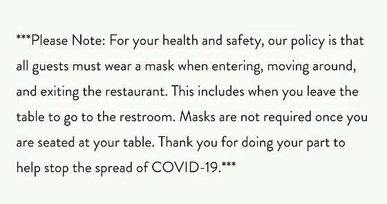 COVID-19 Response to Our Guests