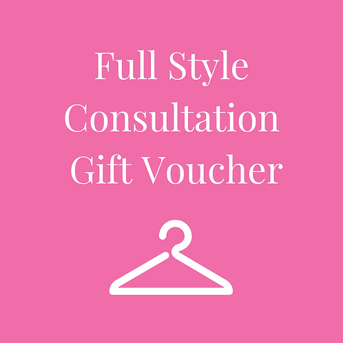 Full Style Consultation Gift Voucher