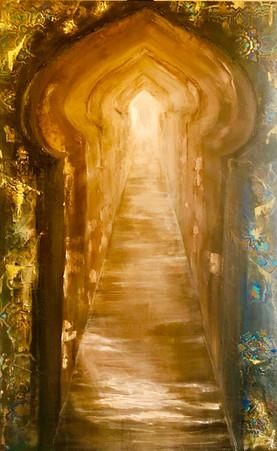 Al bawaba 1 30x48 mixed media on canvas