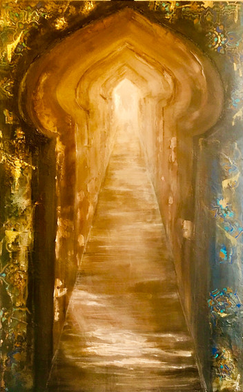 Al bawaba 1 30x48 mixed media on canvas