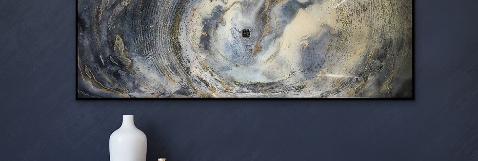 Revolve 3 16x40 Resin on canvas