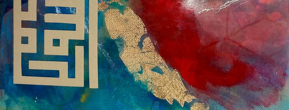 Resin Art 10x10 on canvas