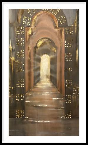 Divine portal 30x48 mixed media
