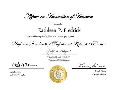 Fredrick_Kathleen USPAP Certificate (2)-