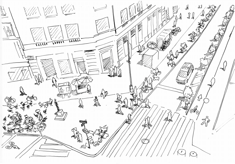 Union Square Drawing for Marvel Architects' Winning Proposal, 2019
