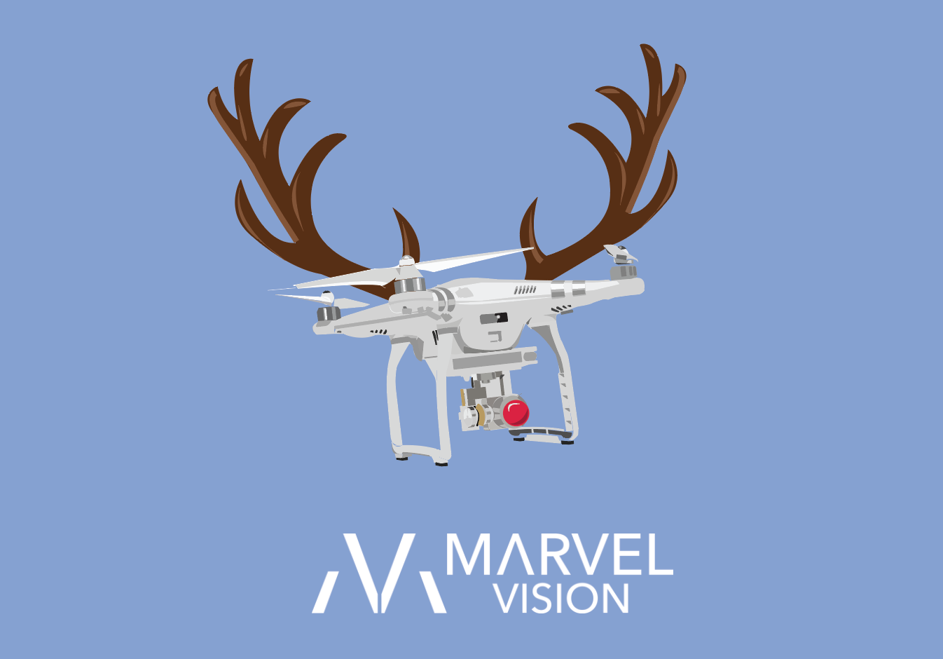 Marvel Vision Xmas Card