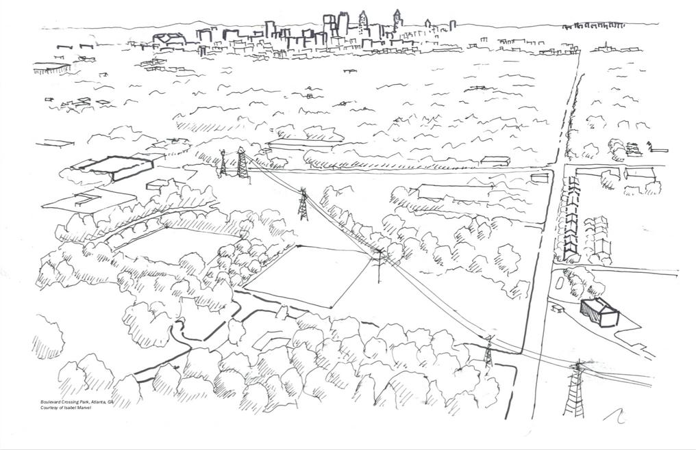 Atlanta, GA, City Drawing for Marvel Architects, 2018