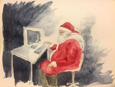 in 2017 Santa comes to clear his cookies