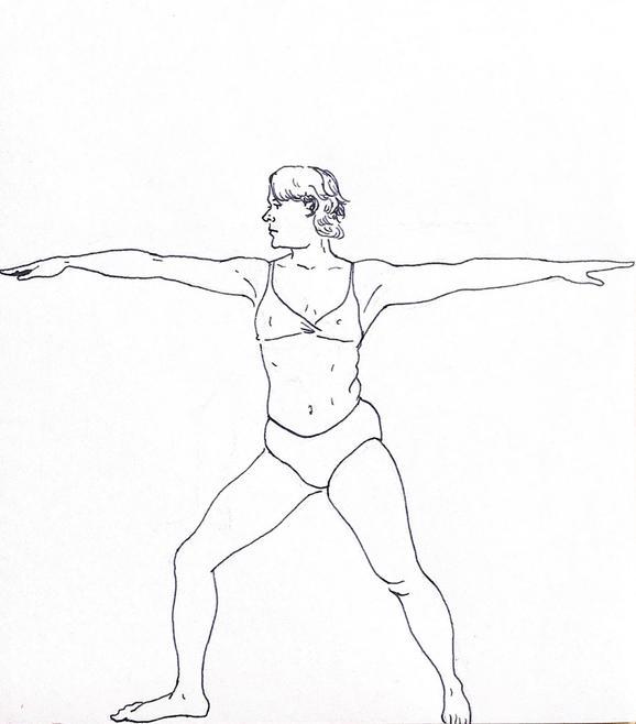Illustration for Sky Ting Yoga NYC, 2020