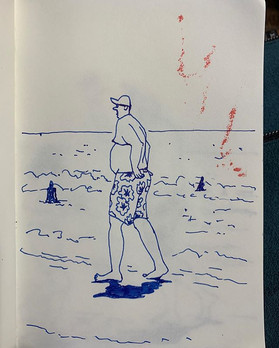 scary-atric beach-goers