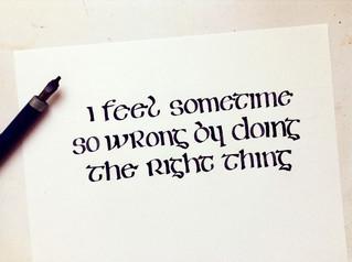 Calligraphie et lettrage