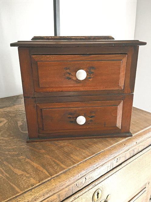Mahogany table top chest     £35