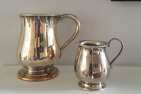 Two vintage silver plated jugs                 £25
