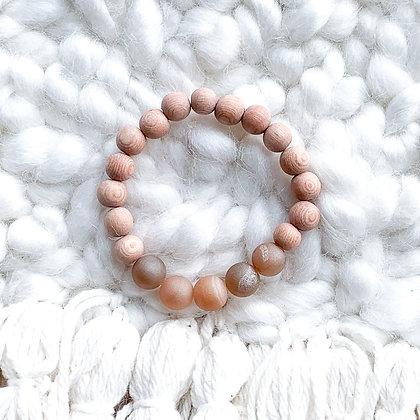 sunstone druzy diffuser bracelet
