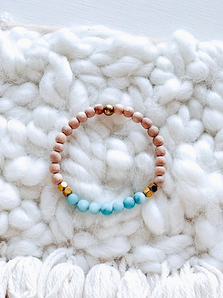 ocean blue jade mini diffuser bracelet