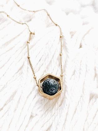 hexagon essential oil diffuser necklace