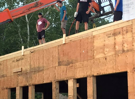 Dining Hall Wall Going Up part 2!