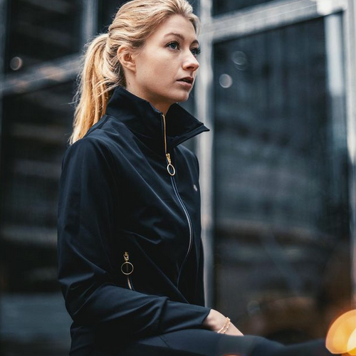 The Charlotte Jacket is the ultimate luxury addition to your workout wardrobe. Lined with ultra soft sustainable fabrics and fitted with premium gold zips. The perfect Winter Jacket for running or simply for keeping you warm on the way to the gym.  Coming Soon - sign up to our newsletter at www.NaturalGraceLdn.com to stay tuned.  Sustainable Sportswear, made from regenerated ocean plastic, designed for performance. For women that make an impact.