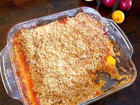 Stone Fruit Cobbler (Peaches,Plums and Apricots)
