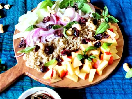 Quinoa , Apple , Cranberry Salad