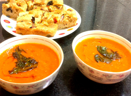 Roasted Tomato and Bell Pepper Soup