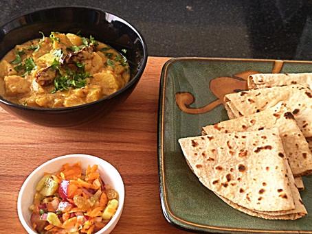Khatte Aloo (Potatoes in tangy yogurt sauce)