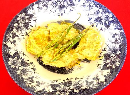 Steamed Paneer in mustard paste