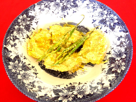 Steamed Paneer in mustard paste