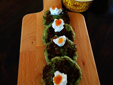 Eggless Broccoli Zucchini Fritters
