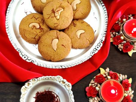 Saffron Cashew Cookies