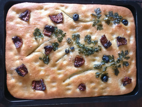 Sourdough(hybrid) Foccacia